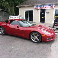 red corvette window tint