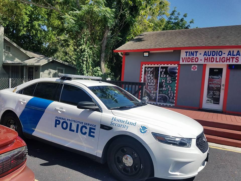 window tint on police car